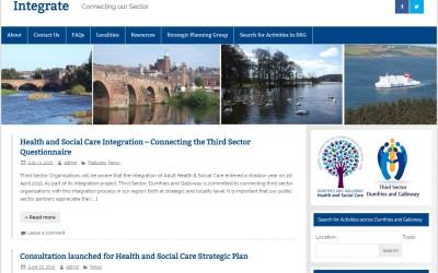 Screenshot of Our Integration Website