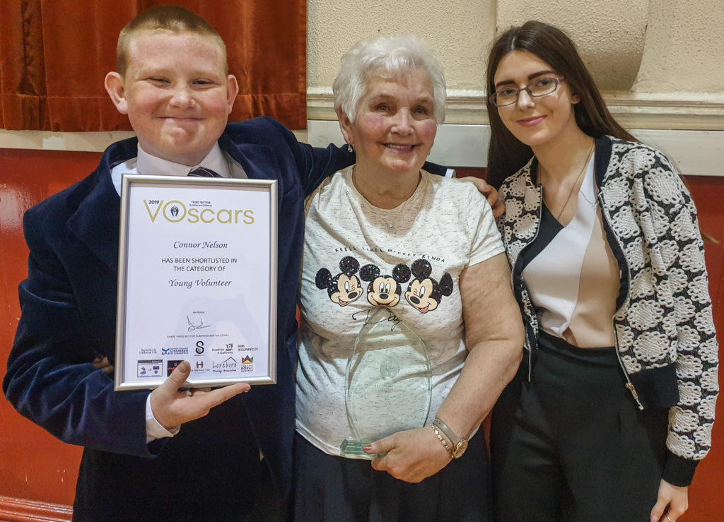 Delighted members of the Young at Heart Group from Summerhill Community Centre, including shortlisted Young Volunteer Connor Nelson.