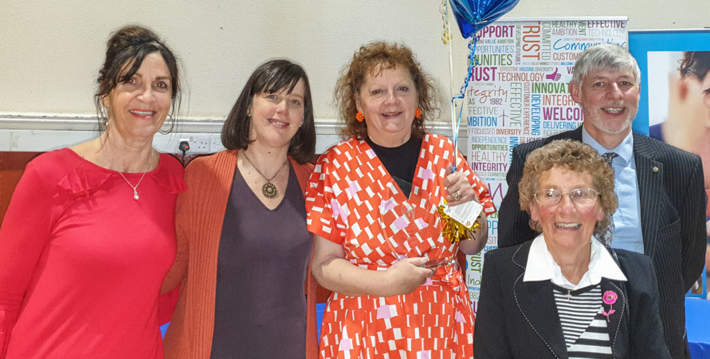 Kate's Kitchen members with Board Member of the year Jane Simons, centre.